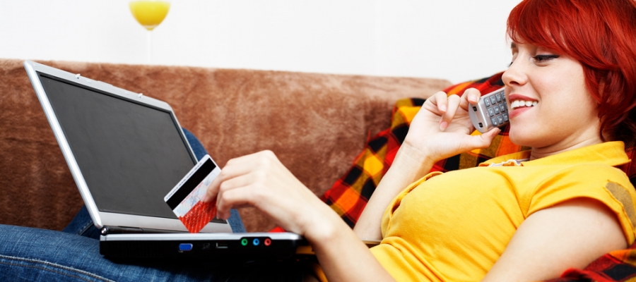 Woman Making Online Purchase